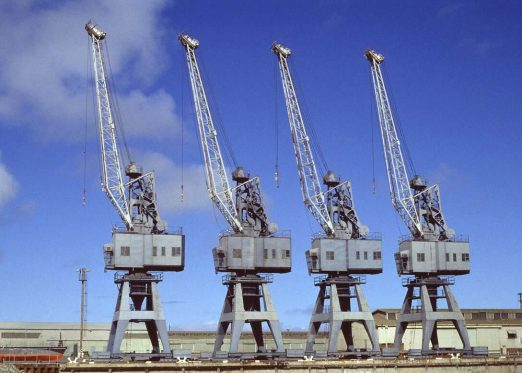 Four old cranes in adelaide require an upgrade