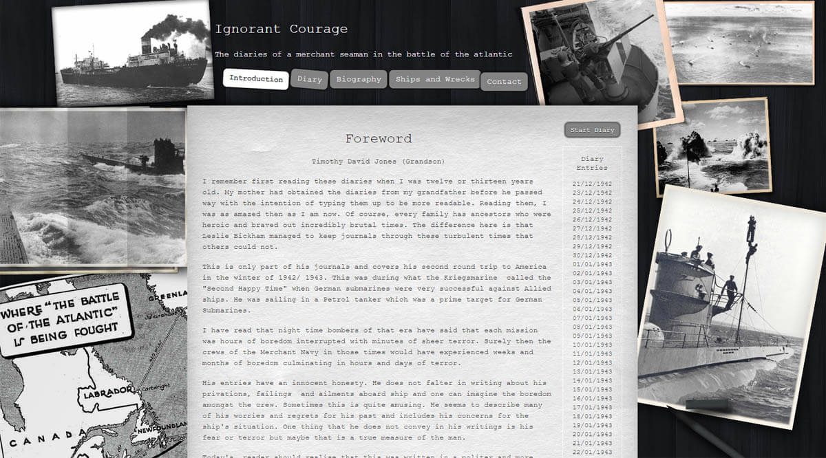 ignorant courage website screenshot of homepage
